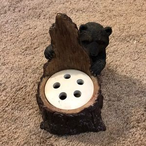 Bear and Tree Toothbrush Holder